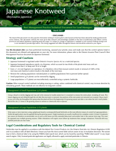 Technical Bulletin Japanese Knotweed